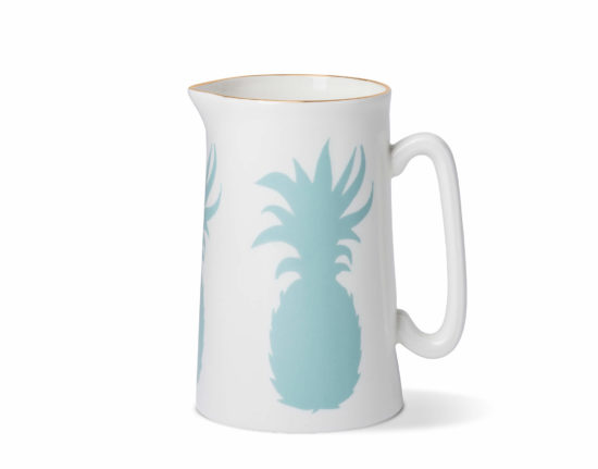 Pineapple 1 Pint Jug with Gold Rim
