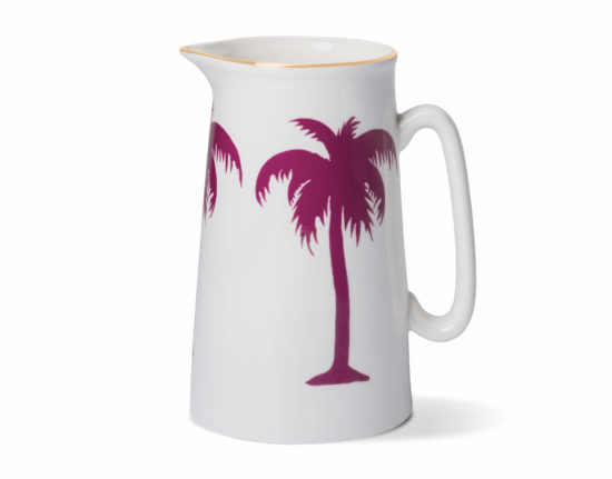 Palm Tree 2 Pint Jug with Gold Rim