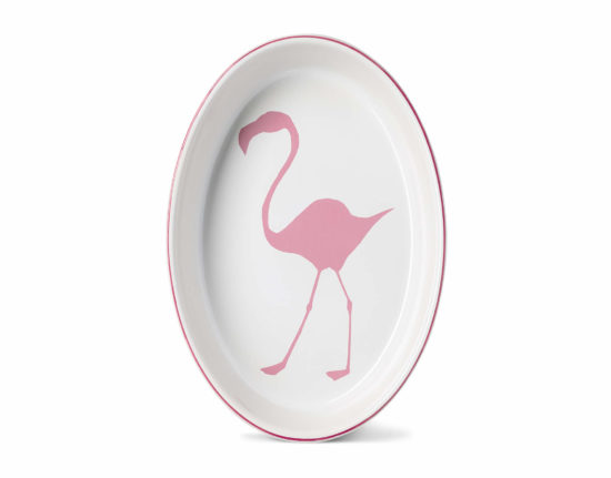 Large Flamingo Oval Ovenware Dish