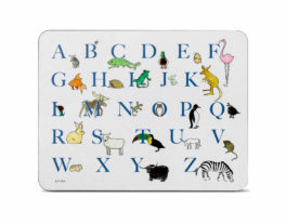 A-Z Large Rectangular Table Mat (Blue)
