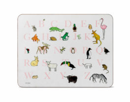 A-Z Large Rectangular Table Mat (Pink)