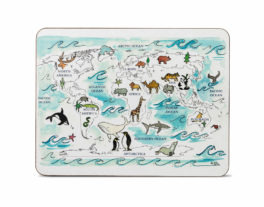 World Map Large Rectangular Table Mat